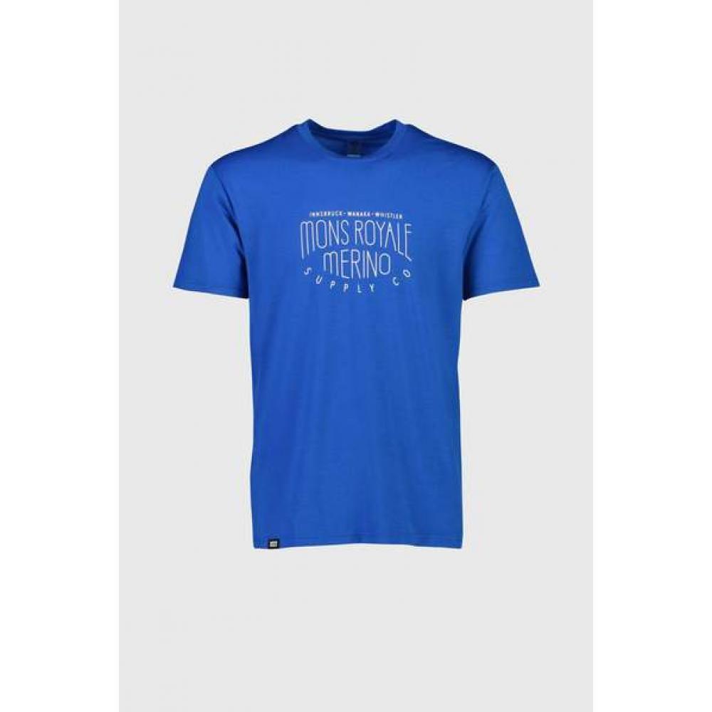 MONS ROYALE TRICOU ICON T-SHIRT REBEL BLUE