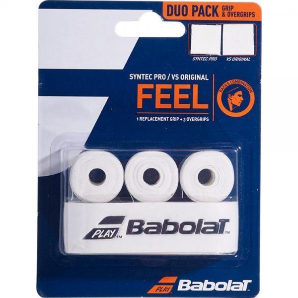Babolat Syntec Pro Replacement Grip + VS Original 3 Pack Overgrip