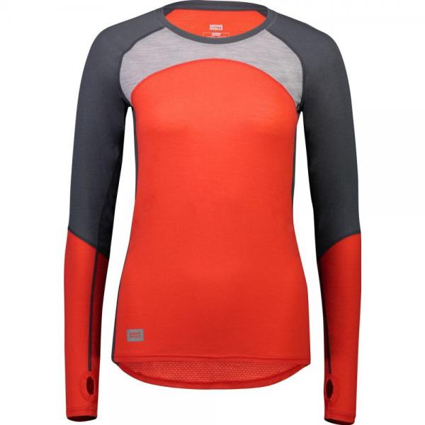 Bluze termice Mons Royale Bella Tech LS Poppy / Charcoal / Grey Marl