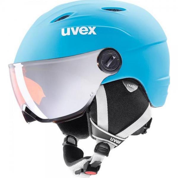 Casca Uvex Visor Pro Jr Light Blue