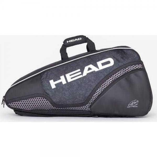 Geanta Head HEAD DJOKOVIC 6R COMBI BK/WH