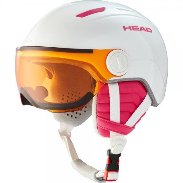 HEAD CASCA MAJA VISOR WHITE