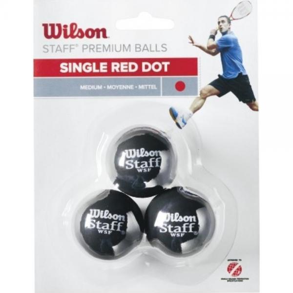 Mingi Squash Wilson Staff Single Red Dot
