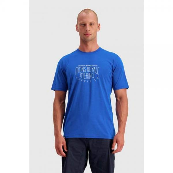 MONS ROYALE TRICOU ICON T-SHIRT REBEL BLUE