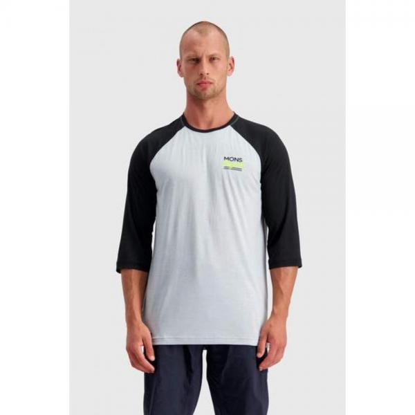 MONS ROYALE TRICOU TARN FREERIDE RAGLAN 3 4 BLACK GREY