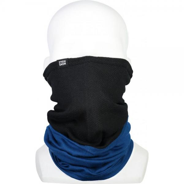 Neckwarmer Mons Royale Fifty-Fifty Mesh Black / Oily Blue