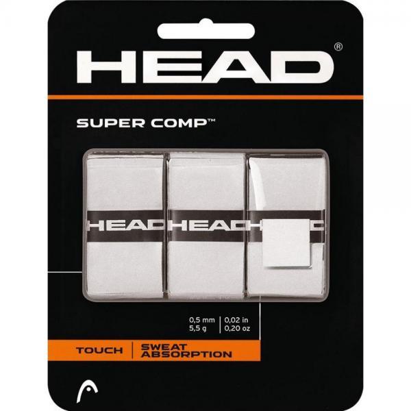 OverGrip HEAD Super Comp 3/set, Alb