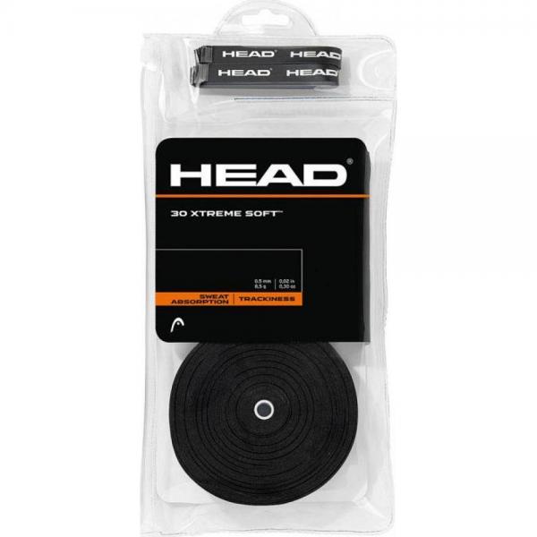 Overgrip HEAD XtremeSoft 30b/pachet NEGRU