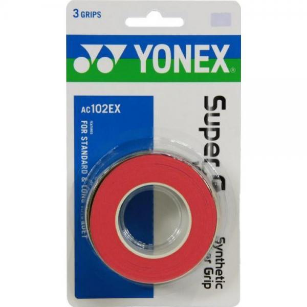 OVERGRIP YONEX X SUPER GRAP SET 3 BUC Rosu