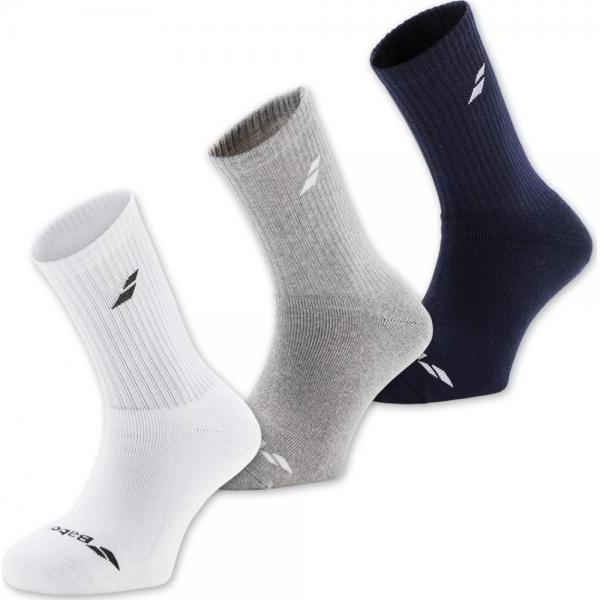 Sosete Babolat Junior x3 White/Grey/Blue