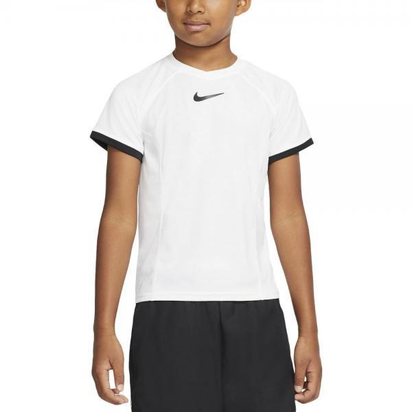 Tricou de tenis Nike Dry Top SS white/black