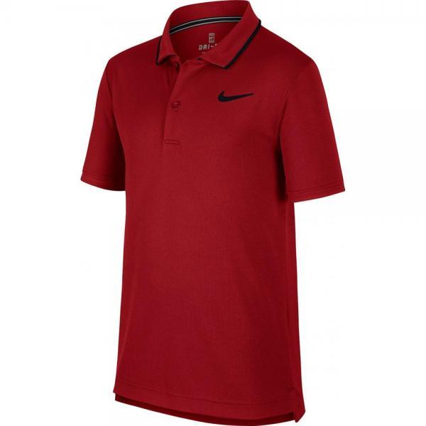 Tricou Nike B Court Dri-Fit polo Tee Red