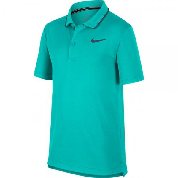 Tricou Nike B Court Dri-Fit polo Tee Turquoise