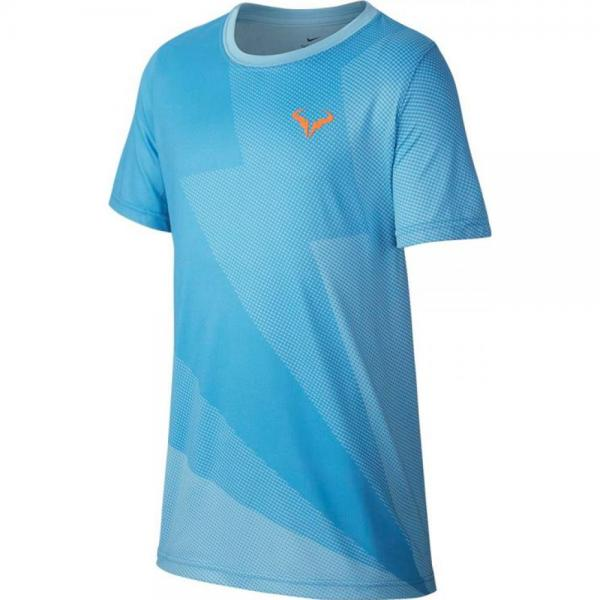 Tricou Nike Boys Court Rafa Graphic Tee Blue