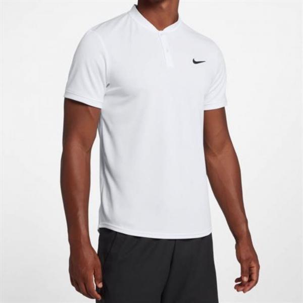 Tricou Nike Court Dry Blade Polo White